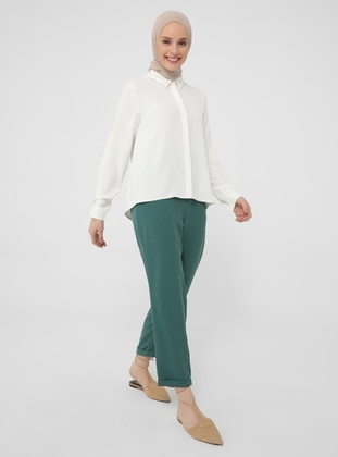 Green - Pants - Casual