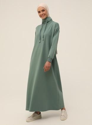 Green Almond - Polo neck - Unlined - Modest Dress