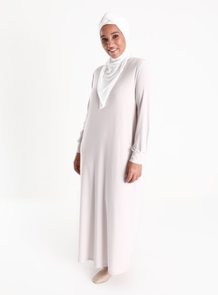 Oversize Basic Casual Dress - Crystal
