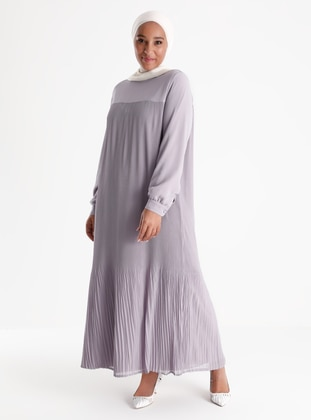 Oversize Pleat Detailed Dress - Lilac