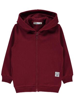 Maroon - Boys` Cardigan - Civil