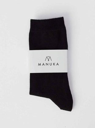 Black - Socks - MANUKA