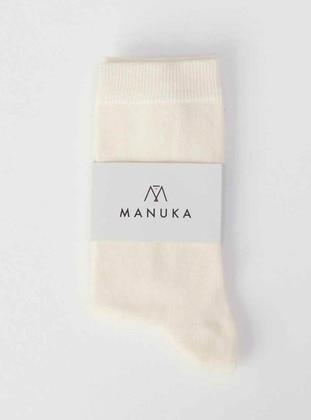 Ecru - Socks - MANUKA