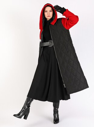 Red - Black - Fully Lined - Coat
