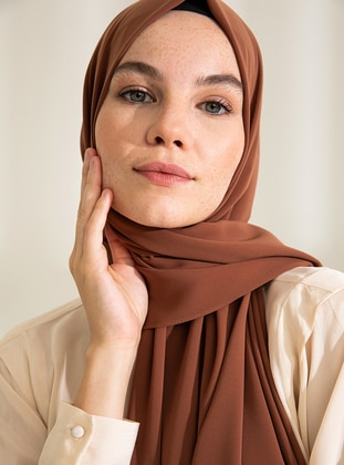 Brown - Plain - Shawl