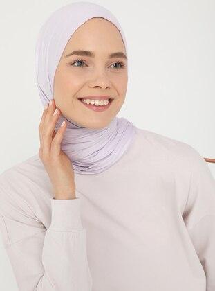 Cotton Fabric Slit Detailed Basic Tunic - Antique Lilac - Basic