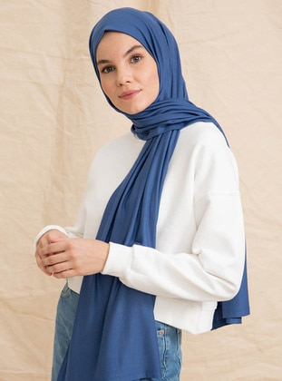 Indigo - Plain - Shawl