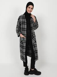Black - Houndstooth - Unlined - Jacket