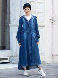 Blue - Unlined - Abaya