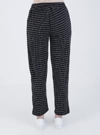 Black - Checkered - Pants