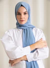 Baby Blue - Plain - Shawl