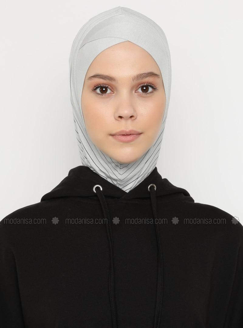 Gray - Sports Bonnet