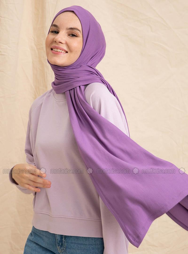Lilac - Purple - Plain - Shawl