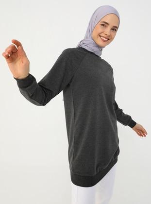 Basic Sweatshirt - Anthracite - Basic