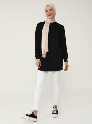 Basic Sweatshirt - Black - Basic