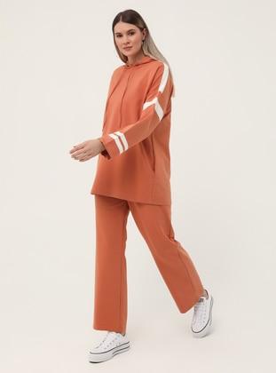 Cinnamon - Orange - Plus Size Tracksuit Sets