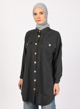 Anthracite - Point Collar - Tunic