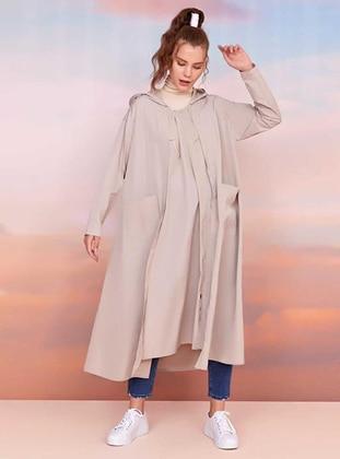 Beige - Unlined - Trench Coat