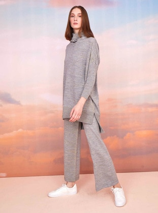 Gray - Unlined - Knit Suits