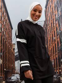 Oversize Tunic&Trousers Tracksuit Set - Black White