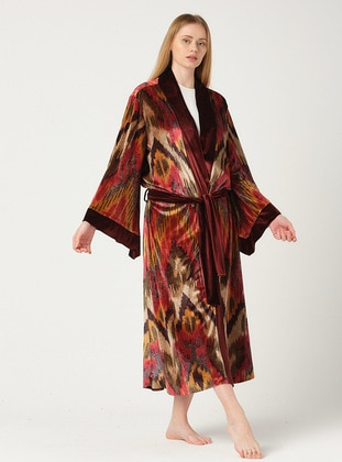 Unlined - Printed - Multi - Multi - Kimono