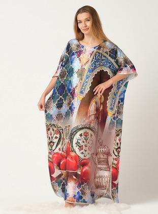 Multi - Printed - Multi - Crew neck - Unlined - Dress