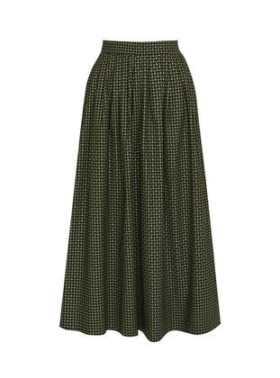 Unlined - Navy Blue - Green - Evening Skirt - BERRENstudio
