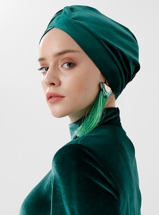 Green - Plain - Simple - Bonnet