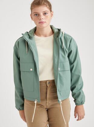 Turquoise - Trench Coat