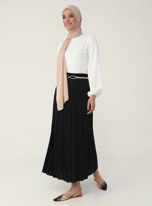 Black - Unlined - Skirt - Refka Woman