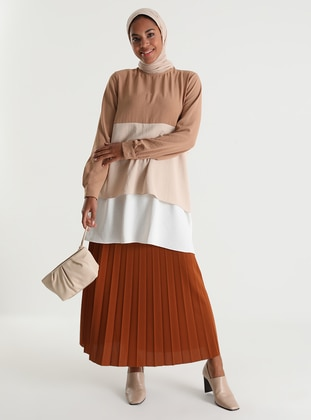 Camel - Unlined - Skirt