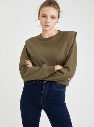 Khaki - Sweat-shirt