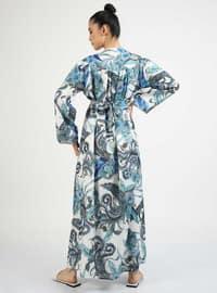 Saxe - Multi - Crew neck - Unlined - Dress