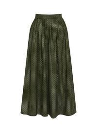 Unlined - Navy Blue - Green - Evening Skirt