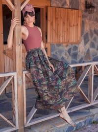 Unlined - Khaki - Evening Skirt