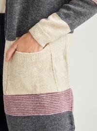 Beige - Cardigan
