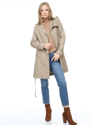 Mink - Fully Lined - Trench Coat