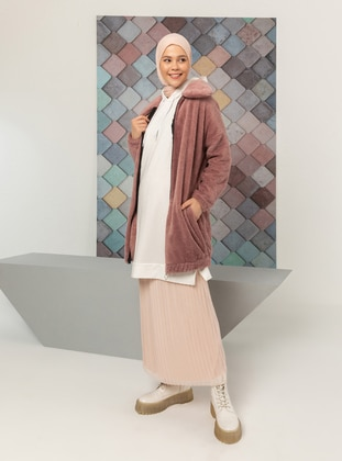 Pink - Unlined - Puffer Jackets - Tofisa