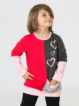 Crew neck - Multi - Girls` Sweatshirt