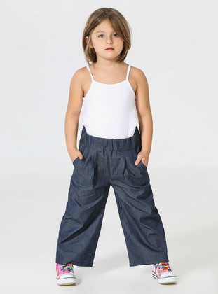Navy Blue - Girls` Pants - Zeno Kido
