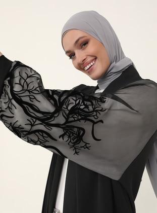 Black - Black - Unlined - Black - Unlined - Abaya