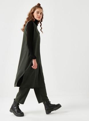 Green - Plaid - Unlined - Suit