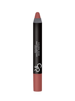 Matte Crayon Lipstick No:21 - Golden Rose