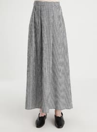 Black - Plaid - Unlined - Skirt