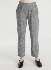 Black - Gingham - Pants