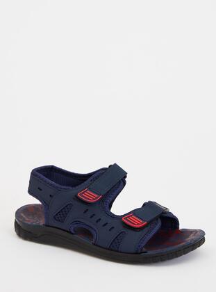 Navy Blue - Boys` Sandals - DeFacto