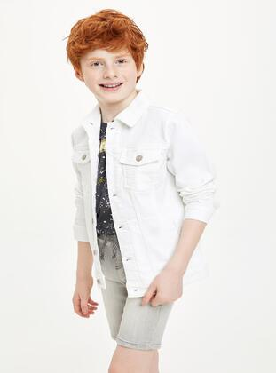 White - Boys` Jacket
