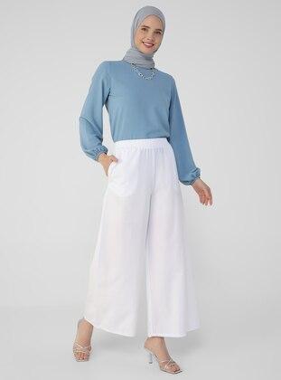 White - White - White - Pants - Refka