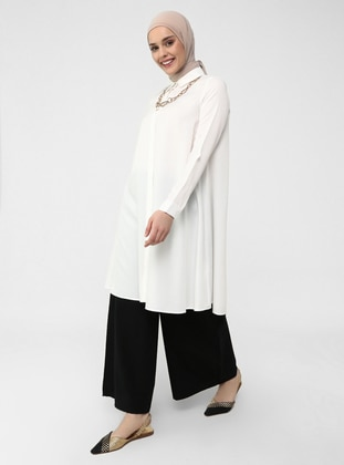 Elastic Waist Cotton Oxford Bag Trousers - Black - Refka Casual