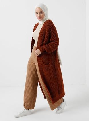 Cinnamon - Silvery - Unlined - Knit Cardigans